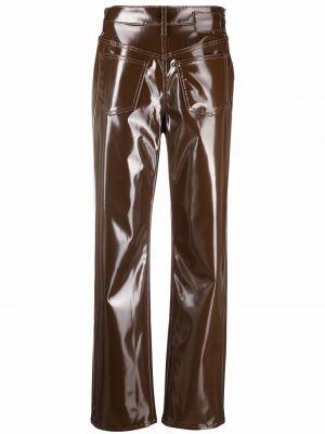 Spodnie z wysokim stanem - brązowe Mm6 Maison Margiela