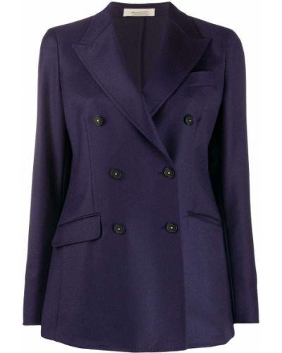 Шерстяной приталенный классический пиджак двубортный Massimo Alba