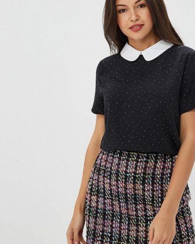Блузка с коротким рукавом черная Art Love