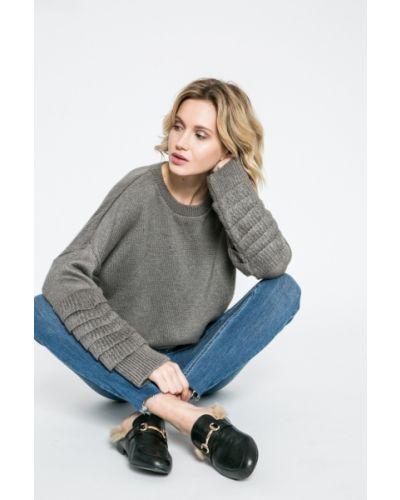 Вязаный свитер в полоску с рюшами Missguided