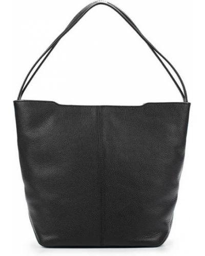 Кожаная сумка сумка-хобо черная Ecco