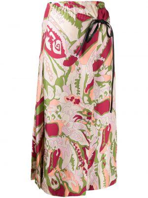 Плиссированная юбка миди с запахом Victoria Beckham