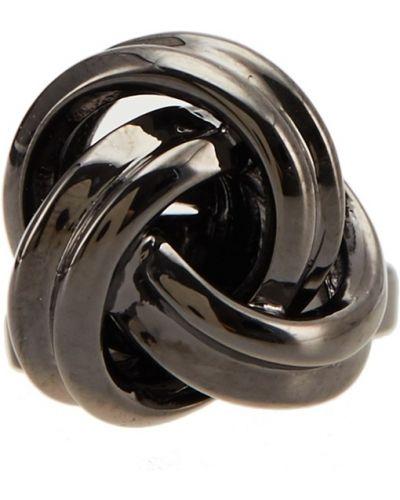 Запонки серый черные Canali