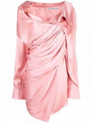 Sukienka długa z długimi rękawami - różowa Alexander Wang