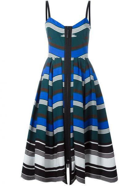 Приталенное тонкое платье на бретелях на молнии Fendi