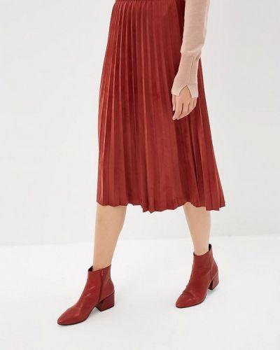 Плиссированная юбка красный Zarina