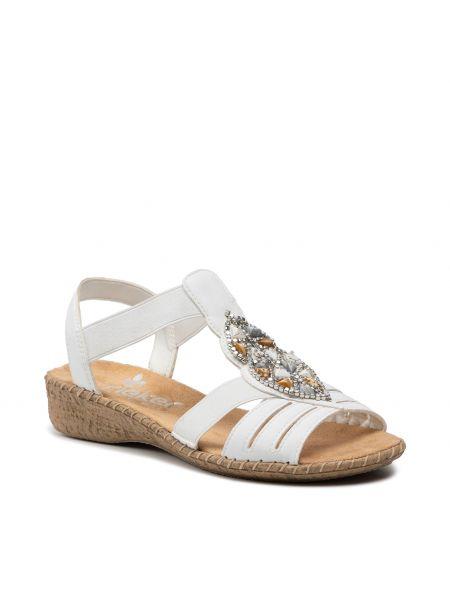 Sandały casual - białe Rieker