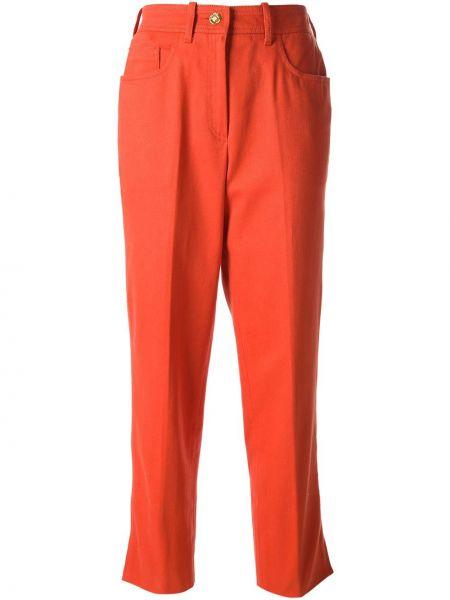 Прямые джинсы винтажные с поясом Céline Pre-owned