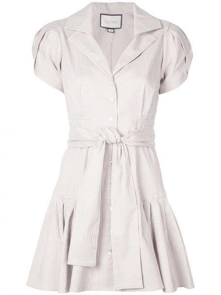 Платье с поясом в полоску на пуговицах Alexis