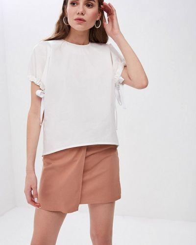 Блузка с коротким рукавом белая весенний Pepen
