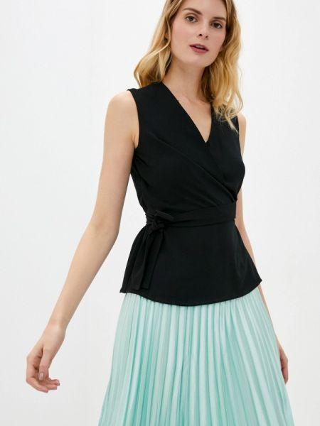 Блузка без рукавов черная весенний Adl