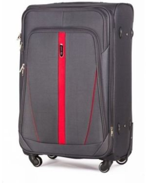 Czarna walizka materiałowa oversize Solier