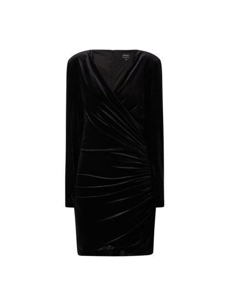 Sukienka z aksamitu - czarna Bardot