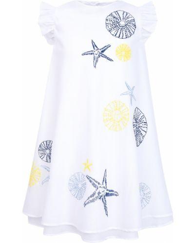 Платье хлопковое с принтом Il Gufo