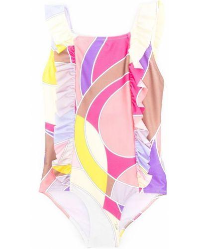 Różowy garnitur z printem Emilio Pucci Junior