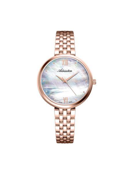 Biały złoty zegarek Adriatica
