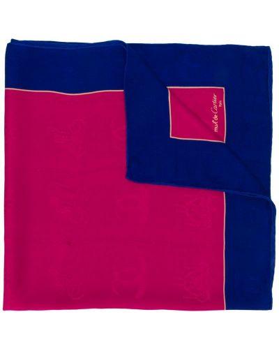 Розовый платок с вышивкой Cartier Pre-owned