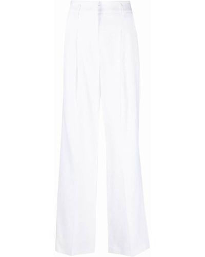 С завышенной талией белые брюки свободного кроя Luisa Cerano