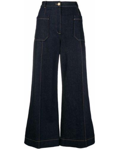 Пляжные укороченные джинсы с карманами в стиле бохо Nina Ricci
