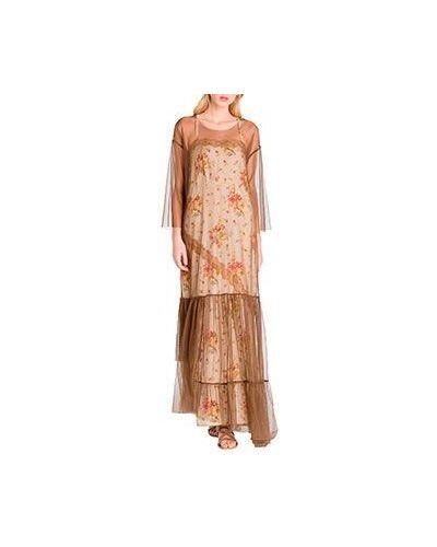Вечернее платье бежевое Twinset