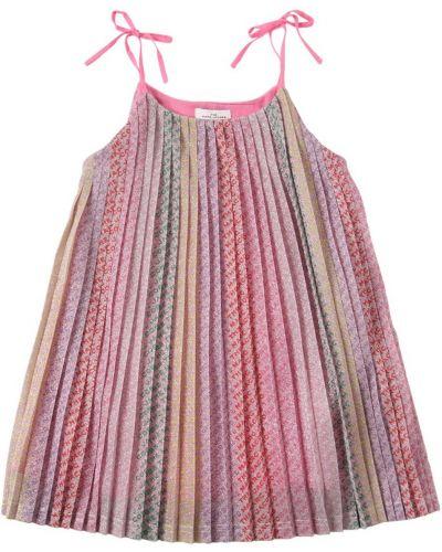 Платье с люрексом на молнии на бретелях Little Marc Jacobs