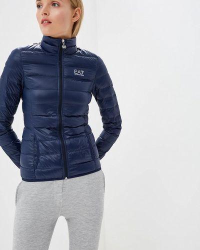 Зимняя куртка весенняя синий Ea7