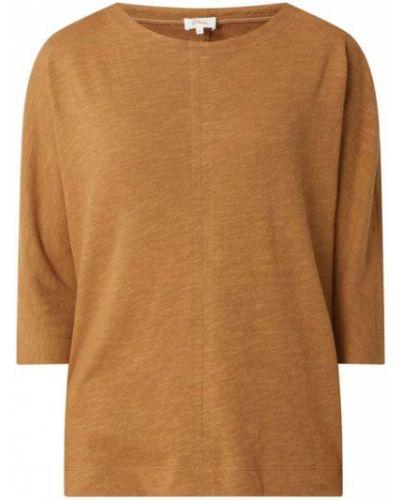 Bluzka z wiskozy - brązowa S.oliver Red Label