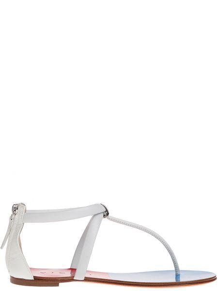 Кожаные сандалии - белые Vicini