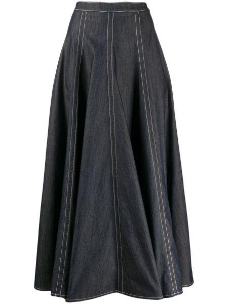 Юбка миди джинсовая с завышенной талией Talbot Runhof