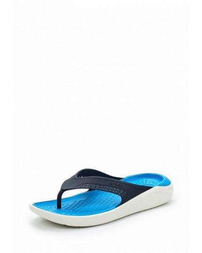 Синие шлепанцы Crocs