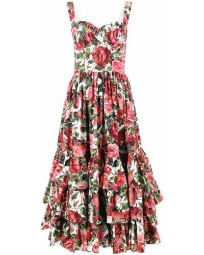 Платье приталенное со складками с баской Dolce & Gabbana