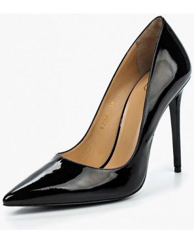 Туфли на каблуке черные кожаные Ilvi