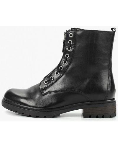 Кожаные ботинки осенние черные Pier One
