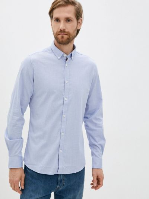 Голубая рубашка осенняя Springfield