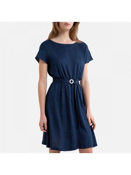 Платье мини с поясом трапеция La Redoute