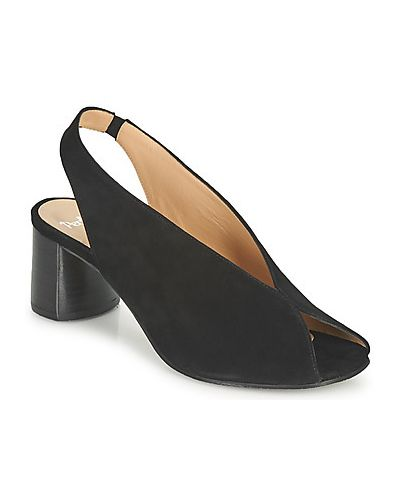 Czarne sandały Perlato