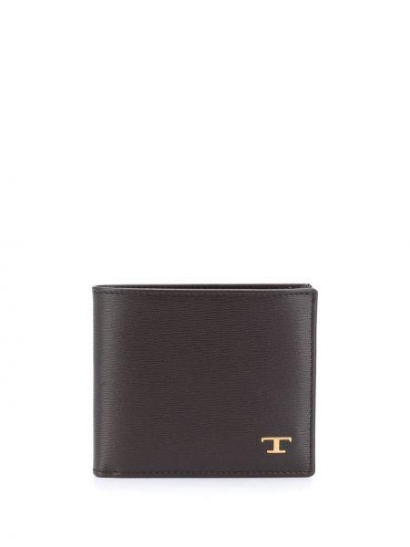 Желтый кожаный кошелек с карманами Tod's