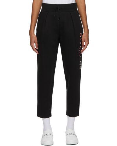 Bawełna czarny spodnie z kieszeniami z haftem Givenchy