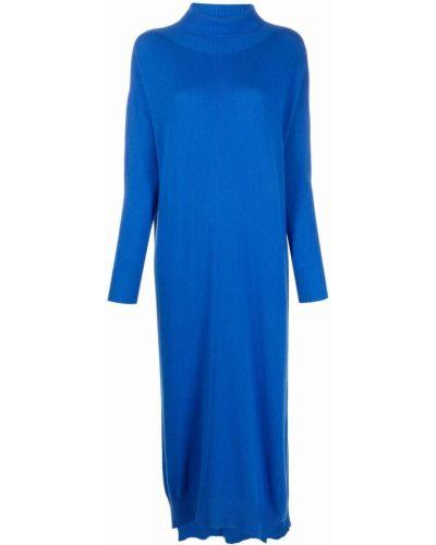 Синее платье с длинными рукавами 8pm