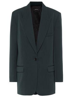 Шерстяной зеленый однобортный пиджак Isabel Marant