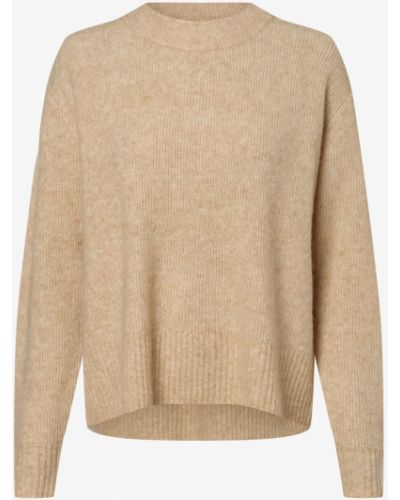 Beżowy sweter elegancki Mbym