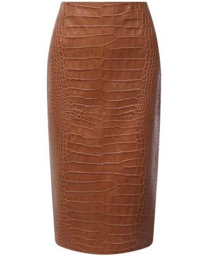 Кожаная юбка - коричневая Ralph Lauren