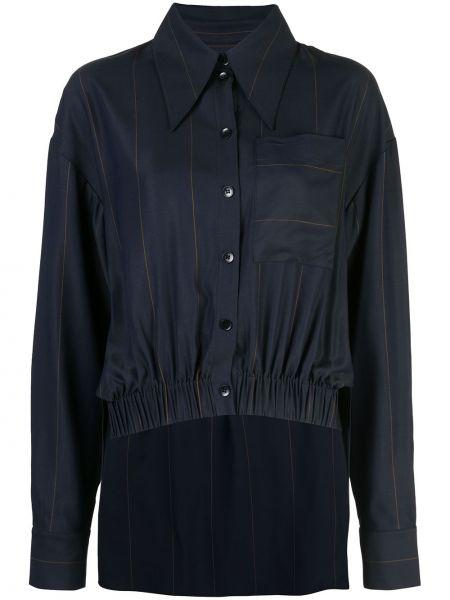 Koszula z wiskozy - niebieska Tibi