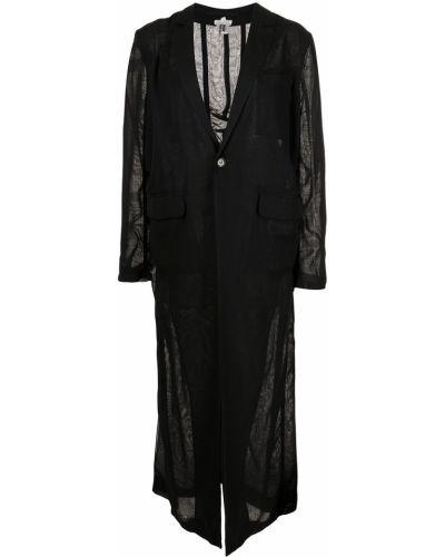 Черное длинное пальто Comme Des Garçons Noir Kei Ninomiya