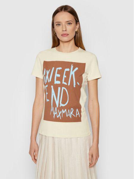 Beżowa t-shirt Weekend Max Mara