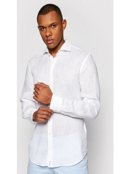 Biała biała koszula Baldessarini