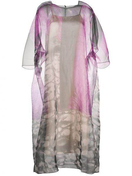 Платье миди с цветочным принтом трапеция Maison Margiela