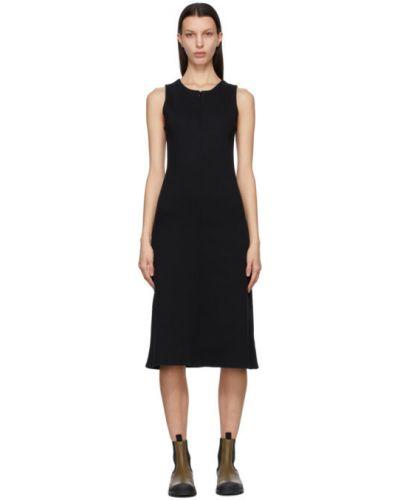 Черное платье без рукавов с воротником Won Hundred