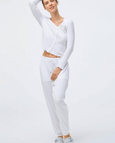 Белая домашняя футболка Oysho