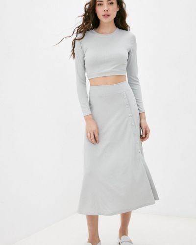 Костюм юбочный - серый Moki